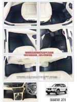 พรมปูพื้นรถยนต์ BMW X1 รุ่น 5D Leather mats สีดำ เข้ารูป 100%