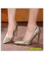 พรีออเดอร์ รองเท้าคัทชู/ส้นสูง สีทอง มีไซด์ 34-39