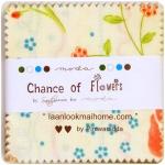 AGUSTCHPRE3 : Moda Chance of Flowers Charm Pack  แพคผ้าขนาด 5 X5 นิ้ว มี 42 ชิ้นต่อแพค