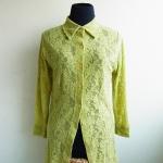 เสื้อเชิิตลูกไม้สีเขียว