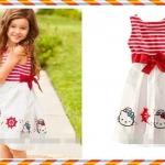 Size 95>> สินค้านำเข้ายี่ห้อ H&M ชุดเดรสกระโปรง Hello Kitty by H&M