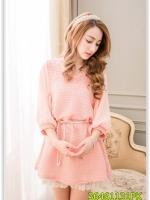 Pre เสื้อ แฟชั่น ราคาถูก สีชมพู