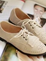 [Pre-order] รองเท้าหนัง ปี2012 ใหม่ รองเท้าแบนส้นแบบอังกฤษ