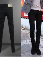 กางเกงยีนส์ชายสีดำแฟชั่น (พร้อมส่งไซส์ 34)
