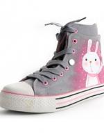 [Pre-order] รองเท้าผ้าใบเพ้นมือ  แฟชั่นเกาหลี 2012