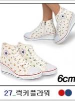 [PRE-ODER] รองเท้าผ้าใบส้นสูง 6 CM [Made in Korea]