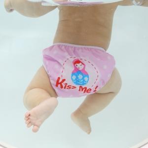 ลาย Kiss Me 2 เดือน- 2 ขวบ #กางเกงผ้าอ้อมว่ายน้ำ # แพมเพริสว่ายน้ำ # กันอึน้องได้ คุณภาพดี ขอบเอว ขอบขาเป็นยางยืด เนื้อผ้านิ่ม
