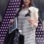 SISOUHOR เดรสแฟชั่นเกาหลี/เสื้อตัวยาวทรงปล่อย แขนล้ำ ลายขวางสีขาวสลับดำ ดีเทลผูกโบว์ใหญ่ที่ไหล่ สวยค่ะ thumbnail 14