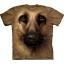 Big Face German Shepherd Dog GSD T-Shirts thumbnail 1