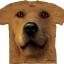 Big Face Golden Labrador T-Shirts Golden Face thumbnail 1